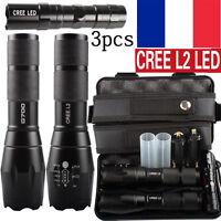 3PCS 80000LM CREE XML XM-L L2 LED Militaires lampe de poche la tactique torche