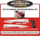1977 1978 YAMAHA ENTICER 340 SNOWMOBILE DECAL KIT reproductions graphics