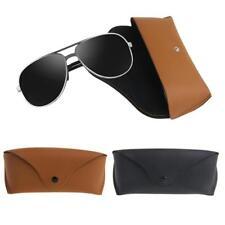 Unisex Tragbare Leder Brillen Sonnenbrille Schutz Halter Brillenetui