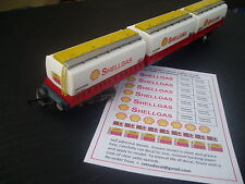 SHELLGAS FREIGHTLINER TANKS CONVERSION SELF ADHESIVE DECALS For Triang Hornby