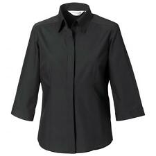 Polyester 3/4 Sleeve Formal Tops & Shirts for Women