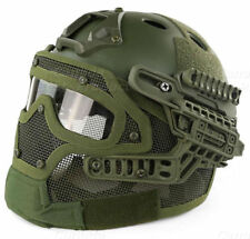 Tactical Protective Googles G4 System Full Face Mask Helmet Molle Paintball OD
