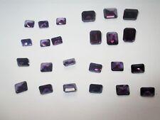 1 CZ Octagon, 11x9 mm Amethist, Princess, Cubic Zirkonia synthetische Edelsteine