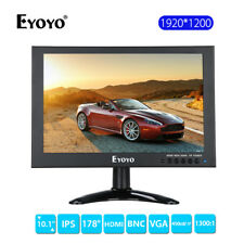 "EYOYO 10"" IPS HD 1920*1200 VGA AV HDMI LCD Monitor fr Home CCTV DVD PC Landscape"
