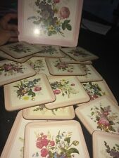 17 Pimpernel Floral Coasters and 1 Place Mat England NICE