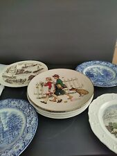 Mixed Lot Of Decorative Collectible Plates Rockwell, 222Fifth, Wedgwood, Liberty