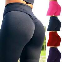 Womens High Waist Sport Pants Yoga Fitness Leggings Running Gym Scrunch Trousers