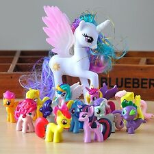 12Pcs/Set Lot of My Little Horse Luna funny Cake Toppers Doll Action Figures Toy