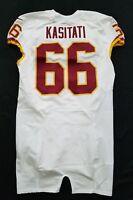 #66 Nila kasitati of Washington Redskins NFL Locker Room Game Issued Jersey