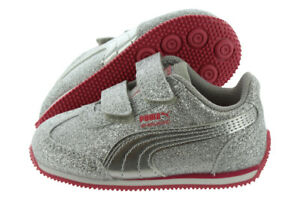 Puma Whirlwind Glitz Toddlers Shoes Size 9, Color: Silver