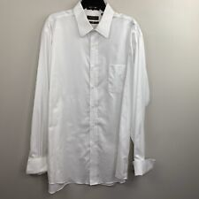Joseph Abboud Men's White Long Sleeve Formal Shirt French Cuffs 17 1/2 36 / 37