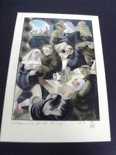 EROTISME - DINER DES MOINES -LITHOGRAPHIE COULEURS -1935 -BERTHOMME STA - ERO 14