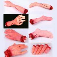 Halloween Scary Decor Fake Bloody Body Part Props Severed Foot Leg Hand Fingers