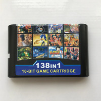 Super 138 in 1 Game Cartridge 16 Bit For Sega Mega drive Multi Cart Retro