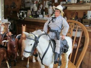 Vintage 1973 Gabriel The Lone Ranger And Silver Horse Action Figure