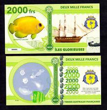 ILES GLORIEUSES ● TAAF / COLONIE ● BILLET POLYMER 2000 FRANCS ★ N.SERIE 000004