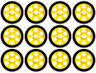 12 Lego Technic WHEELS + TIRES (car,tyre,rim,robot,city,creator,auto,pulley,ev3)