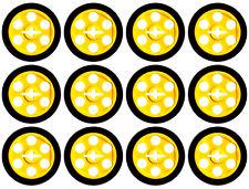 12 Lego Technic WHEELS + TIRES (car,tyre,rim,robot,city,creator,auto,pulley,ev3)