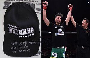 Hisaki Kato Signed Bellator 170 Fight Worn Used Hat BAS Beckett COA Autograph
