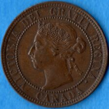 Canada 1896 1 Cent One Large Cent Coin - EF/AU