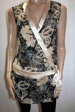 UCW Brand Floral Print Stardust Long Line Chiffon Wrap Top Size 16 BNWT #TP61
