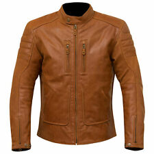 MERLIN DRAYCOTT MOTORCYCLE LEATHER JACKET - BROWN SIZE 40