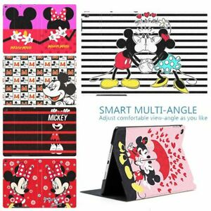 Popular Cartoon Mickey Mouse New Protective PU Leather Smart Cover Case For iPad