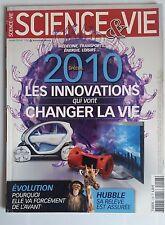 SCIENCE ET VIE  n°1108 du 1/2010; Spécial Innovations qui vont changer la vie
