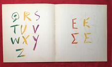 Pablo Picasso, Alphabet, Original Lithograph, 1964, Vintage Collectible