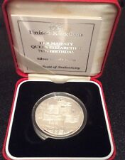 1996 Royal Mint UK '70th birthday of QEII' Silver Proof £5 Crown Cased & COA