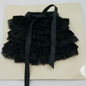 2009 Spring Collection Black Ruffle Tiered Ellowyne Wilde Tonner Doll Skirt MOC
