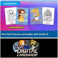 Topps Disney Collect Pint Size Princess Series 3 Color Black White Set of 22