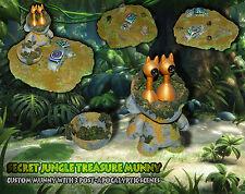 Secret Treasure Giungla MUNNY-Custom MUNNY & 3 X DIORAMA-Kidrobot DUNNY, ARTE
