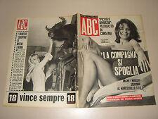 ABC=1965/42=LISA GASTONI=MILENE DEMONGEOT=ANITA HOFER ACTRESS POSTER=