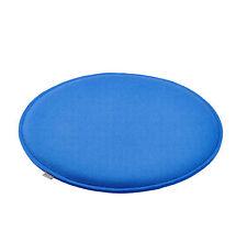 Sitzkissen Sitz Auflage Kissen Schurwoll Filz rund Ø 36 cm H 1,5 cm hell blau