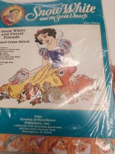 Disney Cross Stitch Kit SNow White & Forest Friends #35010