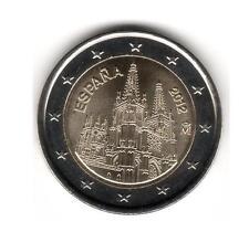 ESPAÑA 2012 - 2 euros conmemorativos, LA CATEDRAL DE BURGOS S/C. encartonada...