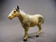 BF cheval percheron gris pommelé Animaux de la ferme, plomb creux (antique toys)