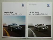 Prospekt Volkswagen VW Passat/Variant TSI EcoFuel, 1.2009, 4 S. + Technik/Preise