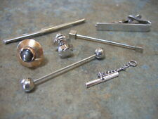 Assorted Vintage MEN'S TIE CLIP PIN JEWELRY Necktie Clasp Bar