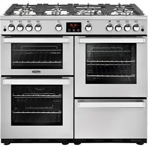 Belling Cookcentre 100G Professional 100cm Gas Range Cooker - Stainless Steel