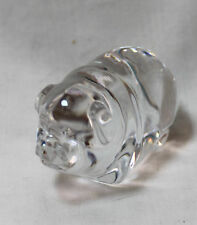 Adorable Baccarat mini POT BELLY PIG, double signed