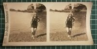 QQ001 Photo stéréoscopique les jolies baigneuses - Circa 1930 femme maillot bain