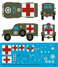 Peddinghaus 1/48 US Army and US Navy Dodge WC-54 Ambulance Markings [Decal] 3302