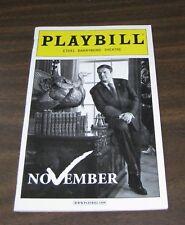 David Mamet NOVEMBER PLAYBILL Nathan Lane Laurie Metcalf Dylan Baker BROADWAY