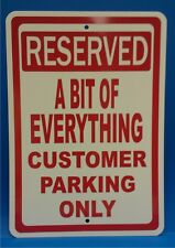 """Personalize this Custom Business Customer Parking 7"""" X 10"""" Plastic Sign"""