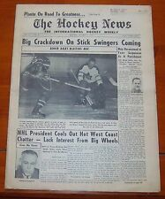 The Hockey News October 24 1959  Johnny Bower  / Jacques Plante