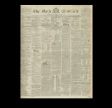 Dollshouse Miniature Newspaper - Bath Chronicle -1840 wedding of Queen Victoria