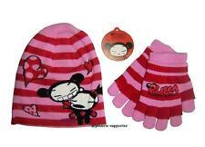 ENSEMBLE Bonnet + gants PUCCA rose Taille 3 4 5 6 ans !!! Enfant fille ....