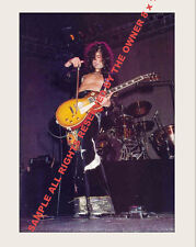 Led Zeppelin Jimmy Page 1973 With Bow On Les Paul Guitar Now In 8x10 First Time